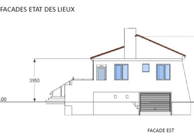 Plan coupe de façade